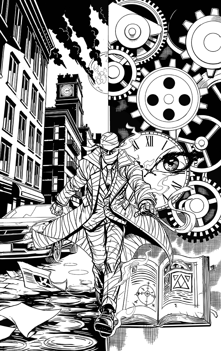 The Nine #0 Cover inks
